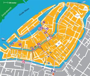 Mappa dei mercatini di Dordrecht